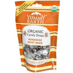 YumEarth, Organic Candy Drops, Roadside Root Beer, 3.3 oz (93.5 g)