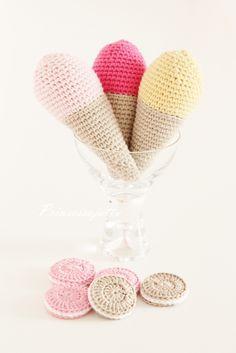 Prinsessajuttu: Virkattuja jäätelöitä