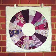 Purple Color Wheel Wall Quilt, 2012