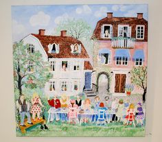Naive Art, Adult Coloring, Denmark, Childrens Books, Acrylics, Stockholm, Beautiful Things, Illustration, Amsterdam