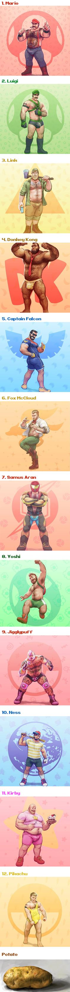 Artist Transformed Super Smash Bros. Characters Into Huge Bears