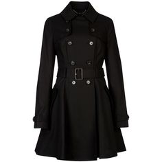 Ted Baker Jjana Trench Coat, Black found on Polyvore