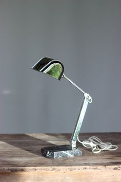 Classic French Fare Desk Lamp Vintage Chrome Table by SooooFrenchy, $141.00