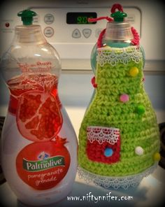 Dish Soap Apron Free Crochet Pattern By Niftynnifer PDF