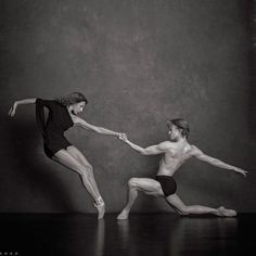 Celine Cassone (Les Ballet Jazz de Montreal) and Daniil Simkin (American Ballet Theatre) Photographers: Deborah Ory and Ken Browar