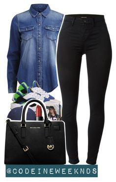 """9:4:15"" by codeineweeknds ❤ liked on Polyvore featuring VILA, NIKE, J Brand, Whistles, NARS Cosmetics and MICHAEL Michael Kors"