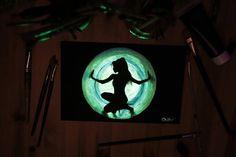 "20x30 on cavas Originals Glow in the dark "" Ariana Focus "" - Painting by Crisco Art"