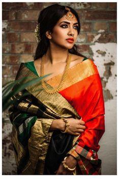 This is an inspired Nayantara traditional saree look.