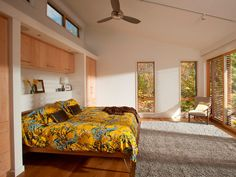 Blu Homes Glidehouse prefab home bedroom.
