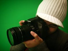 Photography in the green screen studio