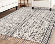 Handmade Rug / Carpet / Vintage Kantha Quilts by IndianWomensCrafts Dhurrie Rugs, Kilim Rugs, Indian Rugs, Fabric Rug, Rustic Rugs, Rug Shapes, Large Rugs, Woven Rug, Rugs On Carpet