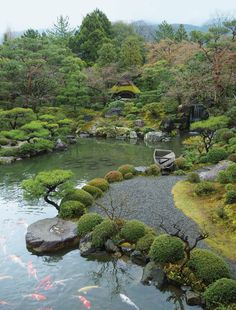 Illustrated book The Japanese Garden Japanese hor - Garden Waterfall Japanese Garden Plants, Japan Garden, Japanese Garden Design, Japanese Landscape, Garden Park, Japanese Gardens, Amazing Gardens, Beautiful Gardens, Garden Waterfall