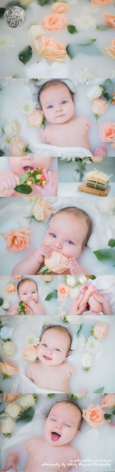 "We've been featured on ""Beyond the Wanderlust"" ! Teagan Elizabeth loved her floral cream & peach baby milk bath!"