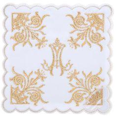 Linge d'autel 4 PCS symboles Marial et lys | vente en ligne sur HOLYART
