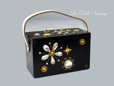 Mille Fleurs Purse  Vintage 1960s Enid Collins by labellevintage