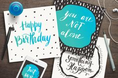 Motivational quotes & greeting cards by piyacler on Creative Market