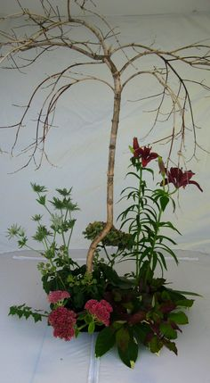 Vegetative design, all materials placed as they would grow...