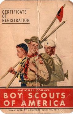 Vintage Boy Scout Registration Card Front | Flickr - Photo Sharing!