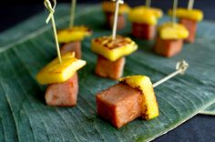 Smart Cookie: Snack Attack: Spam And Pineapple Skewers