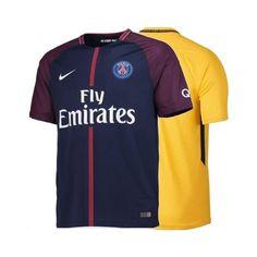 Celebre o novo camisa 10 do PSG, Neymar Jr., com a camisa do Paris Saint-Germain. A Camisa de Futebol Masculina 2017\/18 Paris Saint-Germain Stadium Home é feita com tecido leve que absorve o suor para manter você fresco, seco e confortável.