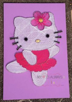 hello kitty string art