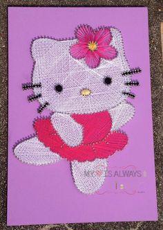 hello kitty string art