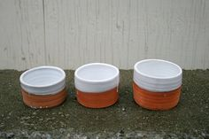 Contemporary ceramic planters, set of 3 terra-cotta handmade one-of-a-kind. Rustic, contemporary Home decor, urban garden