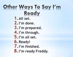 Other ways to say 'I'm ready' #learnenglish #vocab @AntriParto
