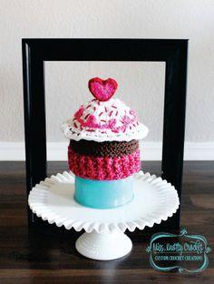 Valentine's Day Cupcake Crochet Hat Photo by MissKnottyCrochet, $22.00