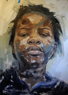 Creative Africa Network - Lionel Smit - African Girl, oil on canvas, X s. Art And Illustration, Figure Painting, Painting & Drawing, Portrait Art, Portraits, African American Art, African Girl, Atelier D Art, South African Artists