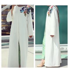 Abaya with flower very light and summer )