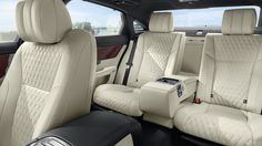 The 2019 Jaguar XJ luxury sedan offers the ultimate in interior design with spacious seating and a panoramic roof. Discover the XJ interior today. Jaguar Xj Supercharged, Jaguar Range, Most Expensive Luxury Cars, Jaguar Xjl, Strange Cars, Jaguar Daimler, Leather Car Seats, Leather Interior, Rear Seat