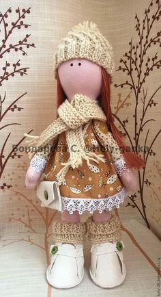 Купить Снежка - бежевый, Снежка, снежная девочка, кукла ручной работы, кукла в подарок