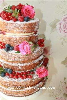 Naked Cake  Tier With Redcurrants