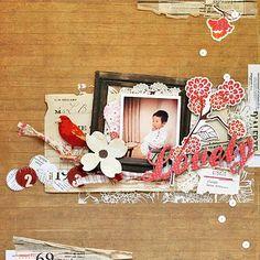 Scrapbook page by Kaori