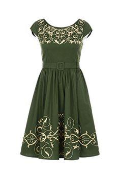 eShakti Women's Graphic floral vine embellished poplin dress 2X-22W Regular Loden green eShakti http://www.amazon.com/dp/B00UL8RXBU/ref=cm_sw_r_pi_dp_.jwhvb0NRH2BN