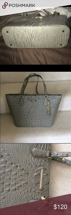 Brahmin Melbourne Silver Sage Asher tote Brahmin Melbourne Silver Sage Asher tote only used a handful of times in perfect condition. Brahmin Bags Totes