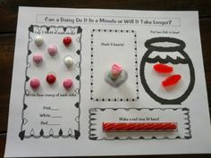 Minute to Win It Worksheet {Valentine's Day class party ideas}