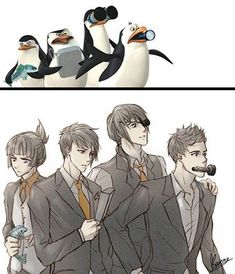 Penguins of Madagascar in anime