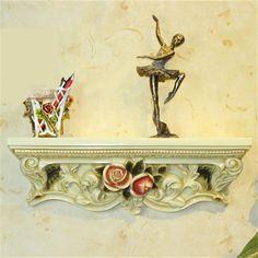 Стране чудес антиквариата год сбора винограда серебряный роскошные розы резные цветочные полка стены ремесло европейский и американский кантри украшения дома W 07 купить на AliExpress
