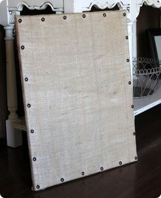 Pottery Barn inspired burlap memo board- I have the tacks from another project...this is going to be done soon!