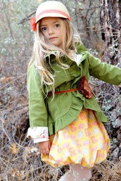 ruffl jacket, green corduroy, girl cloth, children cloth, moss green, babi thing, corduroy ruffl, bubbl skirt, mustard yellow