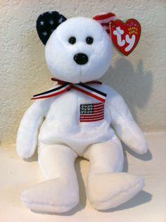 2a1e9d95b15 TY Beanie Babies America the Bear (Internet Exclusive)  6.95 Beanie Baby  Bears
