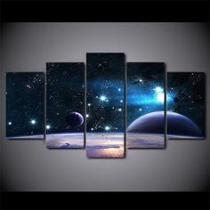Universe Galaxy Starry Sky Space Canvas Wall Art Universe Galaxy Starry Sky Space Canvas Wall Art – Canvas In House. Wall Painting Decor, Diy Wall Art, Wall Art Decor, Canvas Wall Art, Wall Art Prints, Bedroom Canvas, Galaxy Room, Galaxy Painting, Beautiful Wall