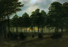 'The Evening' by Casper David Friedrich, 1820-21