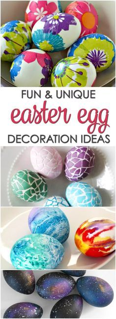 Fun and unique Easter egg decorating ideas kids can do