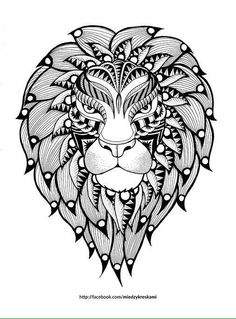 lion printable coloring page