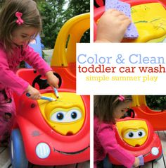 Great toddler activity to do outside.