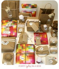 Crafting it up/DIY | You Are My Fave | Forty in a Box - great idea to send for a 40th birthday