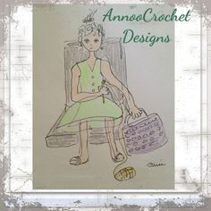Cute illustration of me. Learn To Crochet, Knit Crochet, Cute Illustration, Crochet Designs, Lana, I Am Awesome, Illustrations, Stitch, Knitting